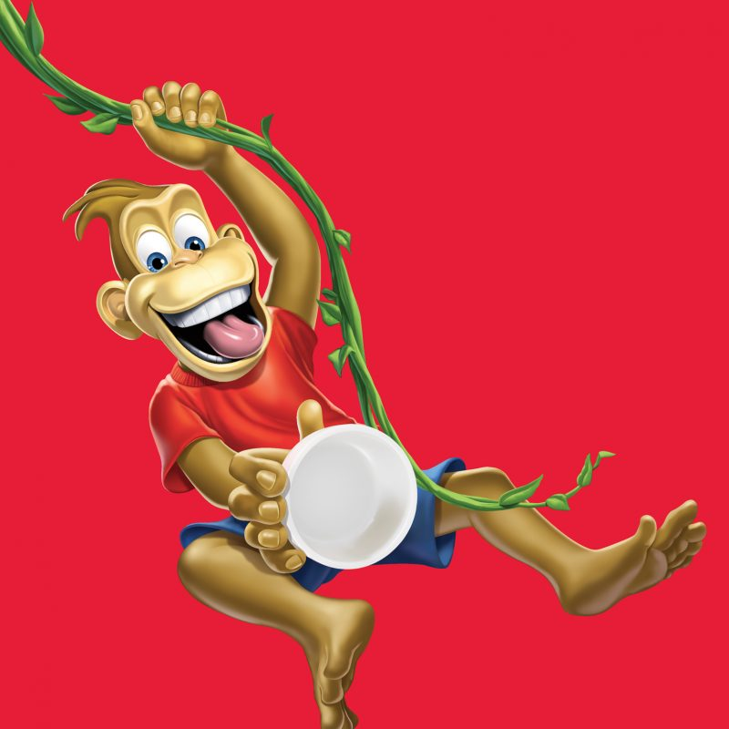 Dannon Yogurt monkey